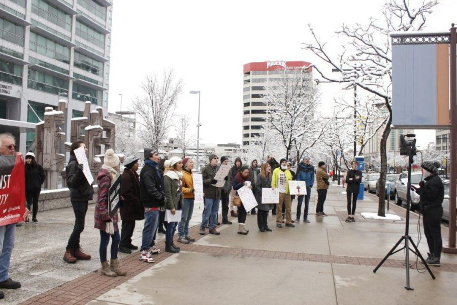 The University of Utah's chapter of Students for a Democratic Society rallied on Saturday, Jan. 20, to recognize one year of resistance against President Donald Trump's administration.