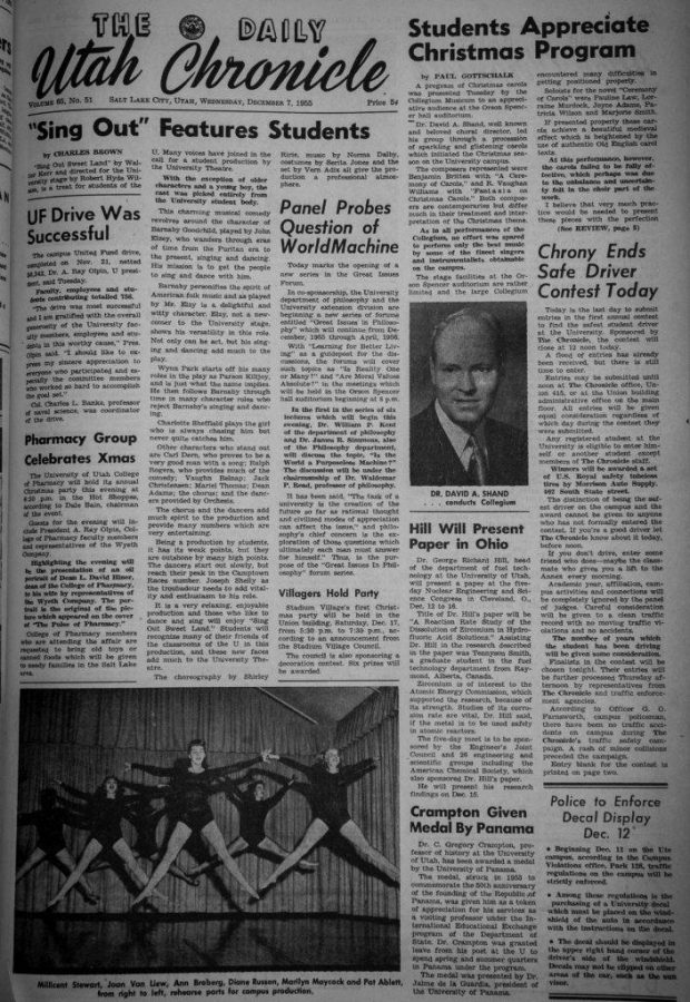 Old Chronicle articles that show a racist  anti-black perspective at the Daily Utah Chronicle and on campus in Salt Lake, UT on Wednesday, Jan. 31, 2018  (Photo by Adam Fondren | Daily Utah Chronicle)