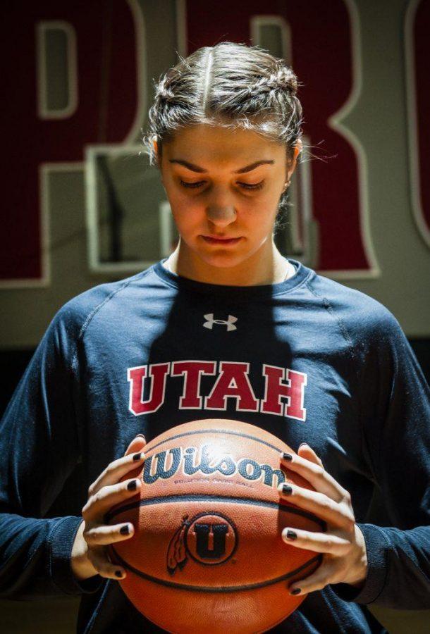 Emily Potter at the University of Utah Basketball Training Facility in Salt Lake City, UT on Monday, Feb. 12, 2018  (Photo by Adam Fondren | Daily Utah Chronicle)