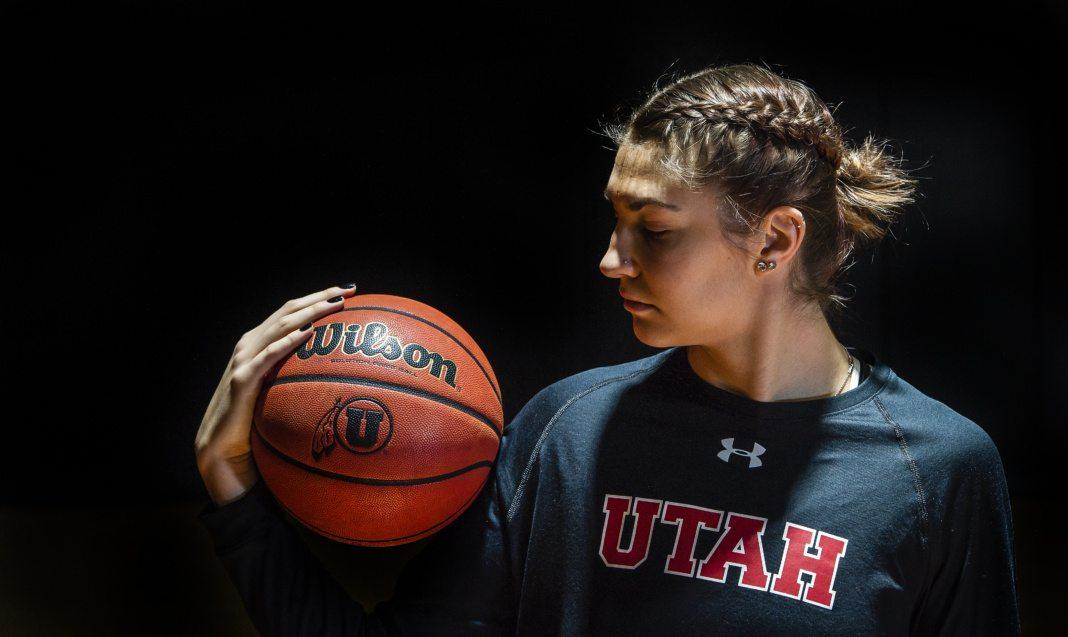 Emily Potter at the University of Utah Basketball Training Facility in Salt Lake City, UT on Monday, Feb. 12, 2018  (Photo by Adam Fondren   Daily Utah Chronicle)