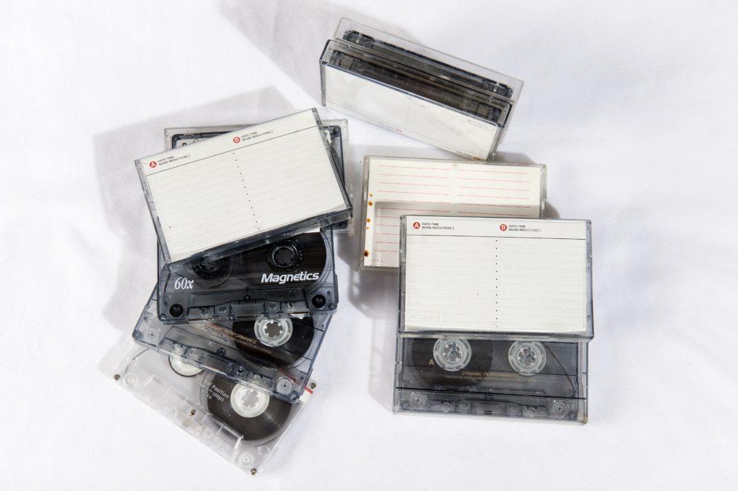 Cassette tapes in Salt Lake City, UT on Wednesday, Feb. 14, 2018  (Photo by Adam Fondren | Daily Utah Chronicle)