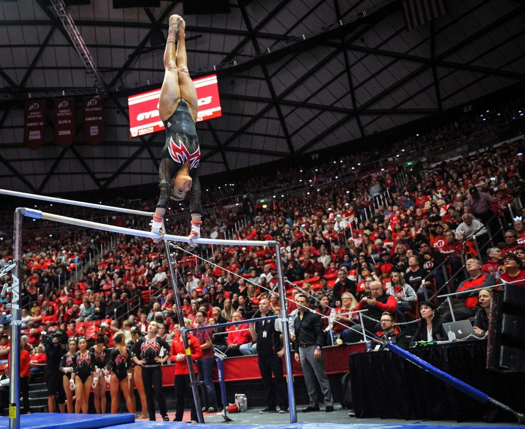 The Red Rocks take on Washington at the Huntsman Center in Salt Lake, UT on Saturday, Feb. 3, 2018  (Photo by Adam Fondren | Daily Utah Chronicle)