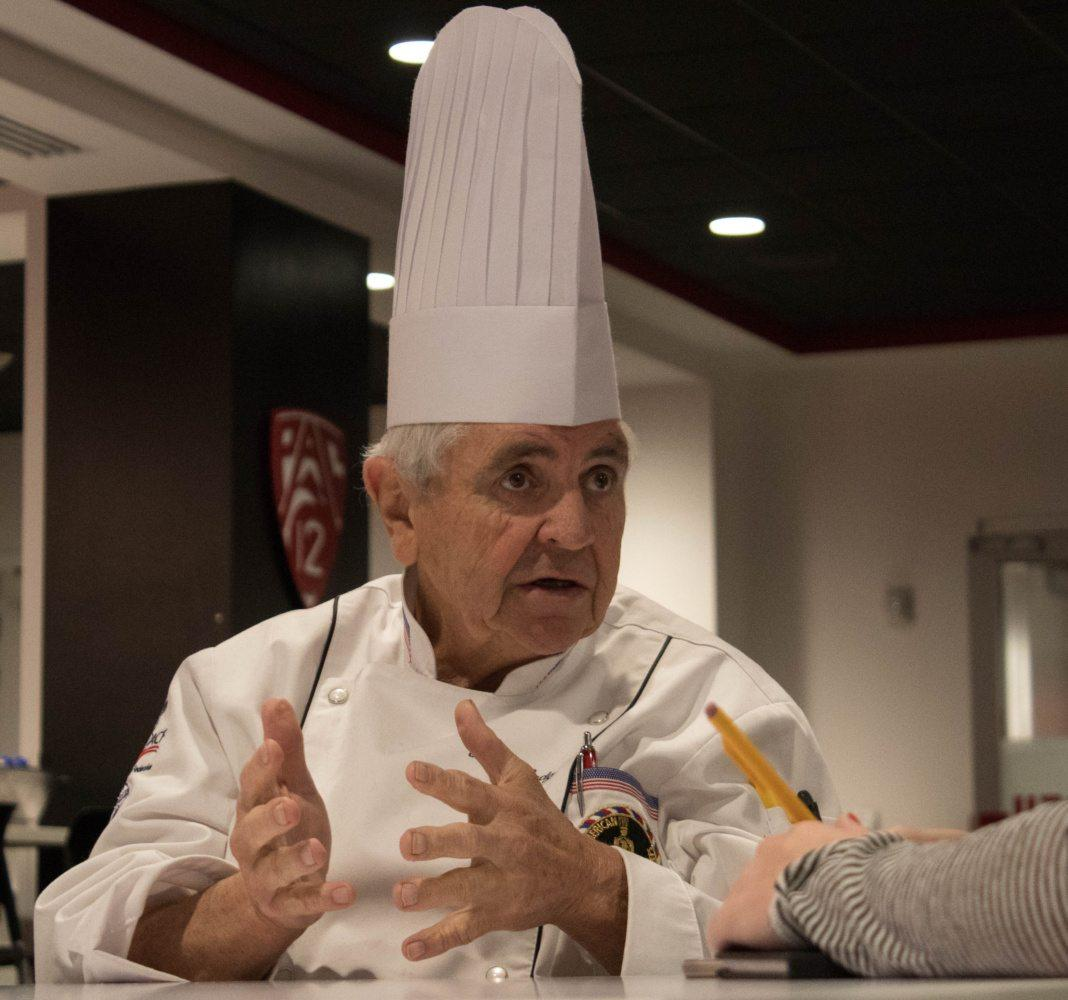 Award Winning Chef Peter Hodgson Interview on Healthy Eating Choices in Salt Lake City, UT on Sun, Jan. 14, 2018.  (Photo by Ben Mccleery/ Daily Utah Chronicle)