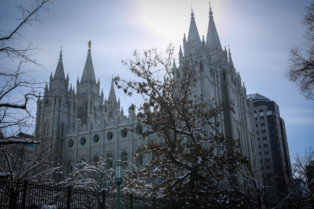 The Church of Jesus Christ of Latter-Day-Saint's temple in Salt Lake City, Utah on Wednesday, Feb.  21, 2018. (Photo by Cassandra Palor | Daily Utah Chronicle)