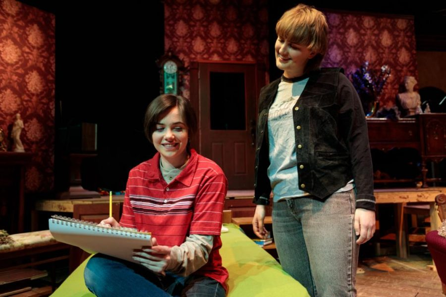 Hailee Olenberger (Joan) and Mary-Helen Pitman from Fun Home   Photo courtesy of:dav.d daniels of dav.d photography.