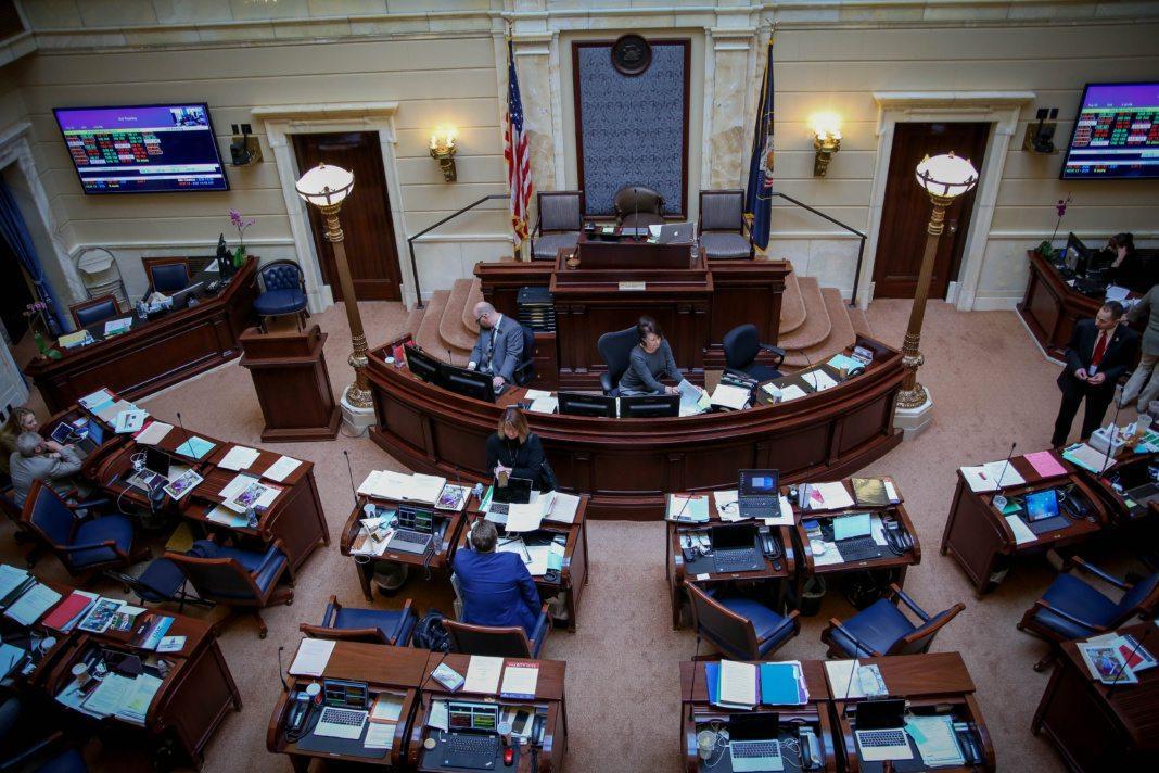 Legislative meeting at the Utah Capital building in Salt Lake City, Utah on Friday, Feb.  23, 2018.