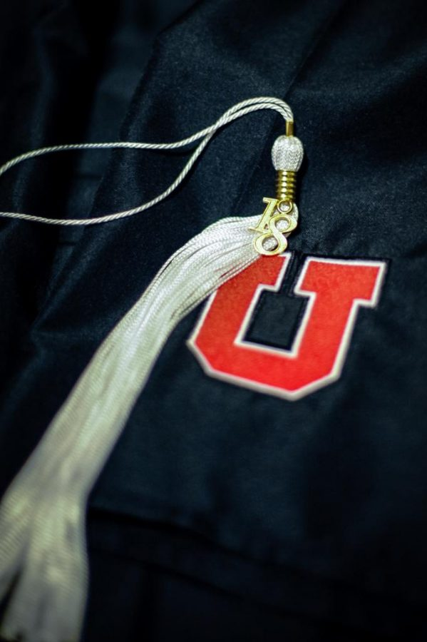 Cap and Gown with 18 School of Humanities tassle in Salt Lake City, UT on Tuesday, April 10, 2018  (Photo by Adam Fondren | Daily Utah Chronicle)