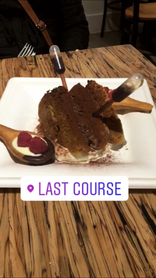 Tiramisu Cake at Last Course via Palak Jayswal