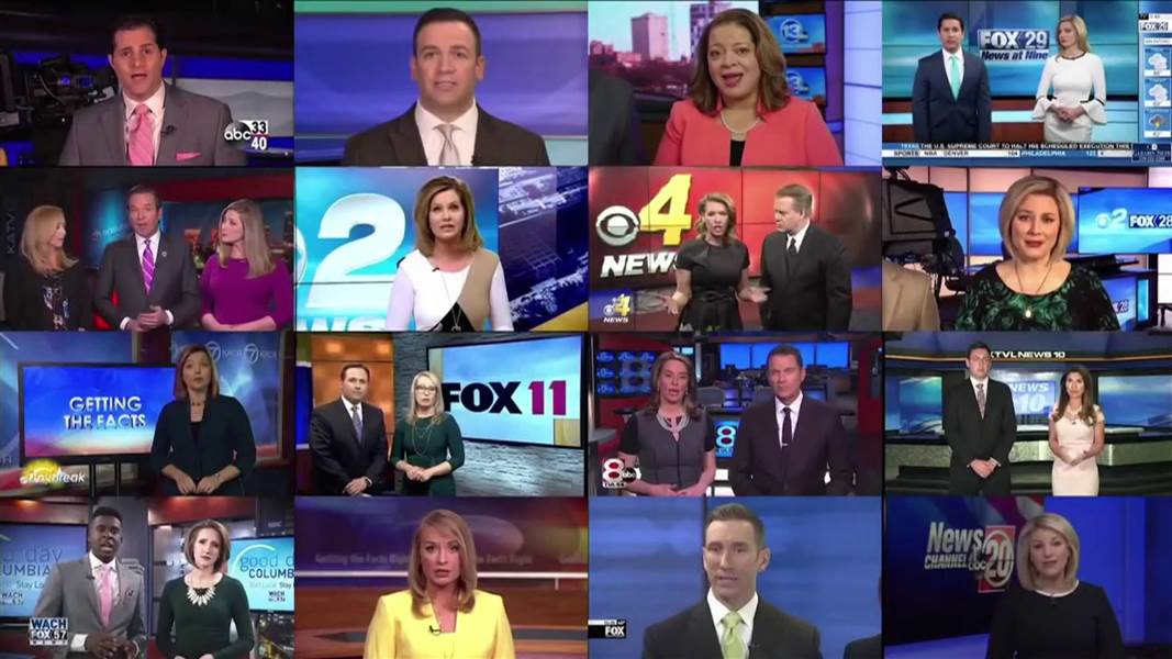 Anchors of affiliates owned by Sinclair Broadcast Group read a 'must-run' script issued by the company.