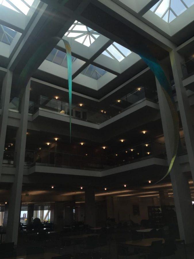 Inside of the University of Utah's Marriott Library