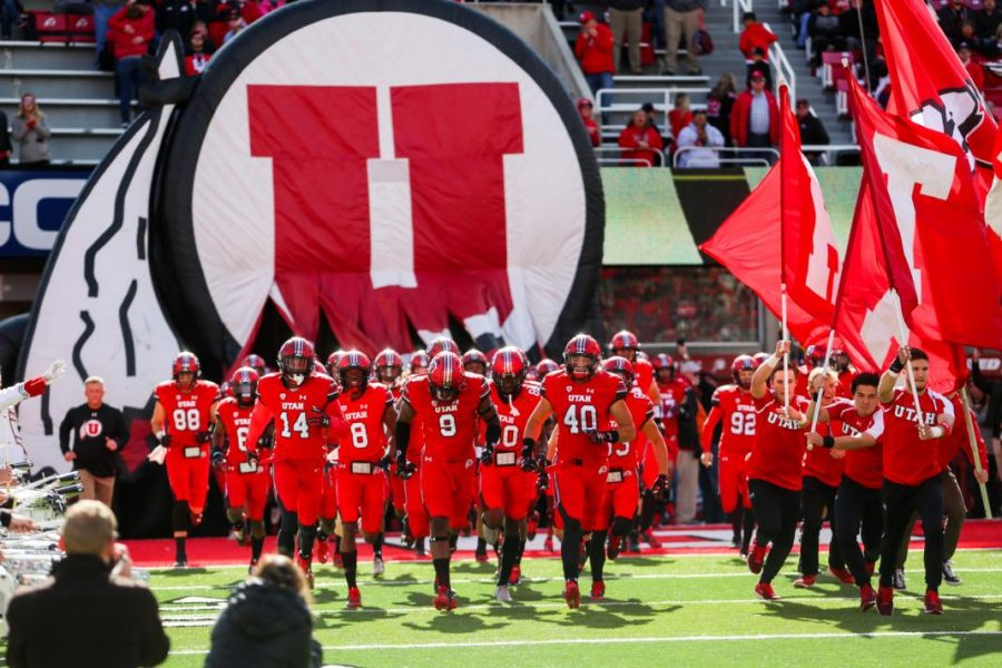 Utah Utes take on Arizona State at Rice-Eccles Stadium in Salt Lake City, UT on Saturday, Oct. 21, 2017.  (Photo by Curtis Lin/ Daily Utah Chronicle)