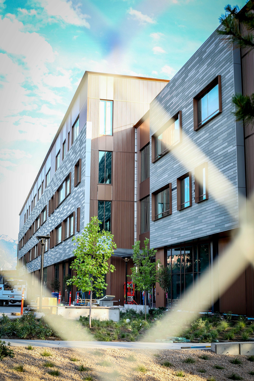 Carolyn and Kern Gardner Building at the University of Utah in Salt Lake City, Utah on Tuesday, July 10, 2018. (Photo by Cassandra Palor | Daily Utah Chronicle)