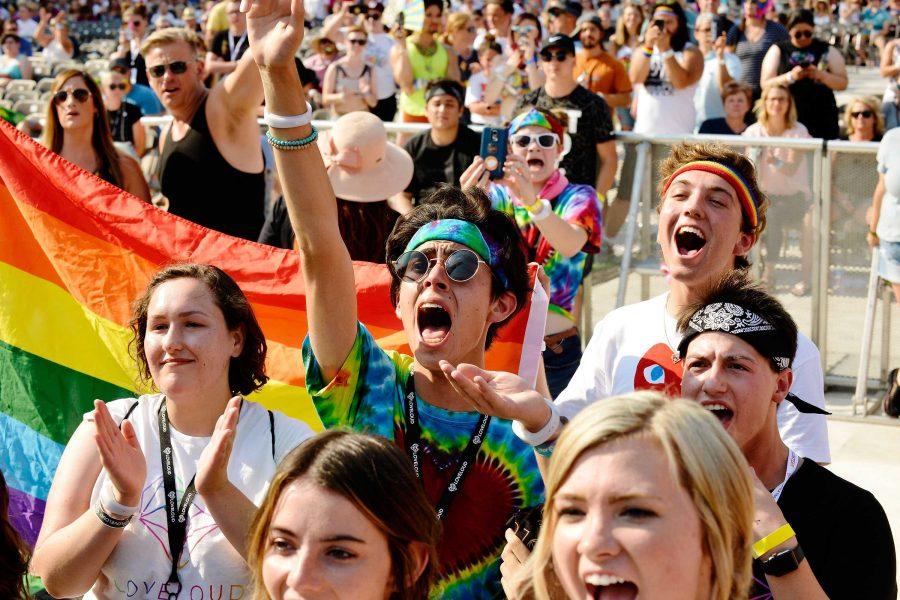Fans cheer on the LoveLoud Festival.  (Courtesy LoveLoud Festival)