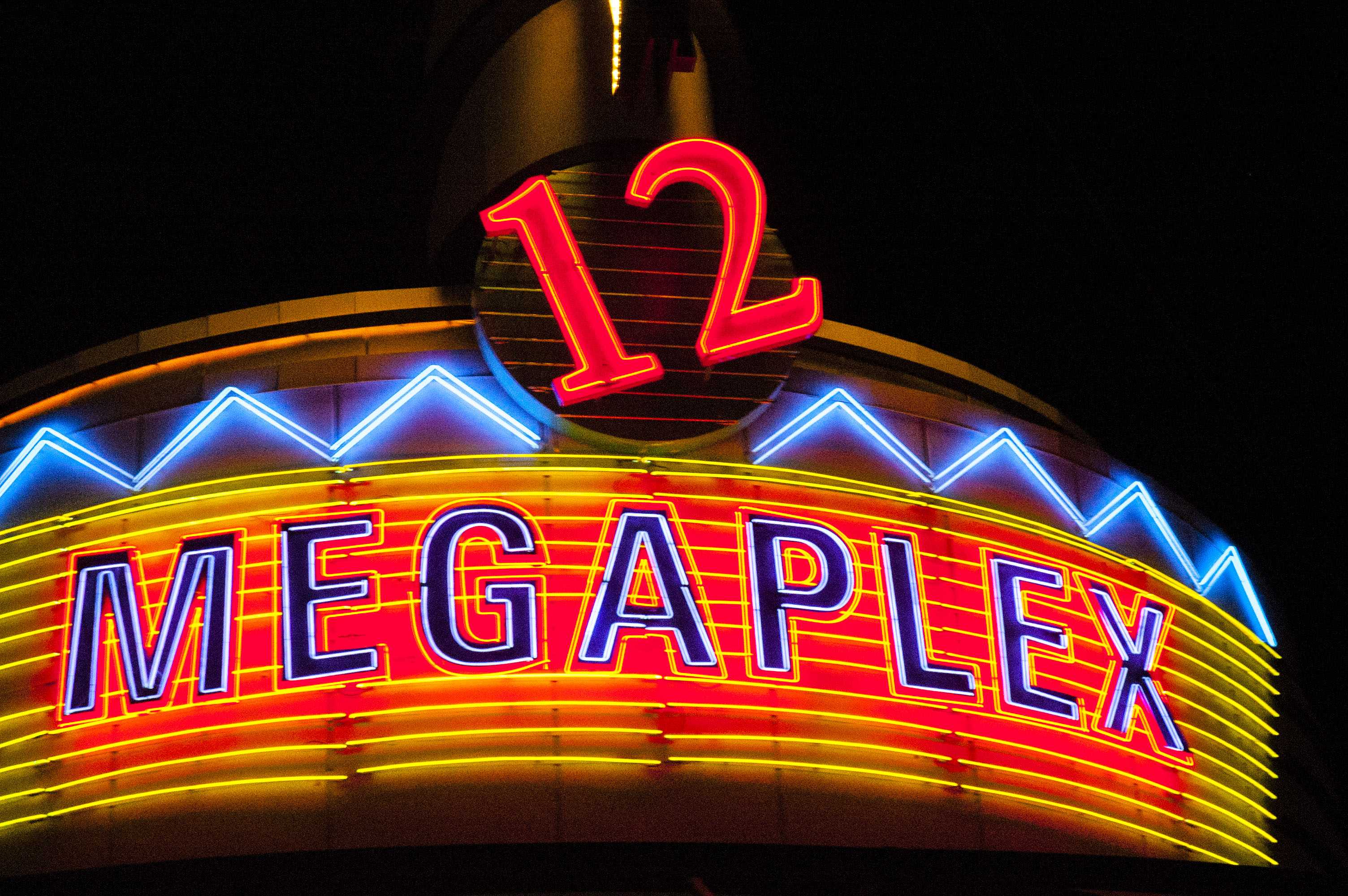 Photos of Megaplex Theaters at the Gateway on the evening of April 3rd, 2018.