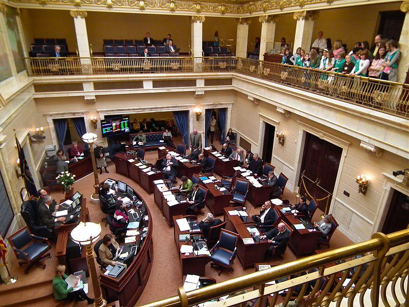 Girl Scouts visit the Senate Chamber in the Utah State Capitol