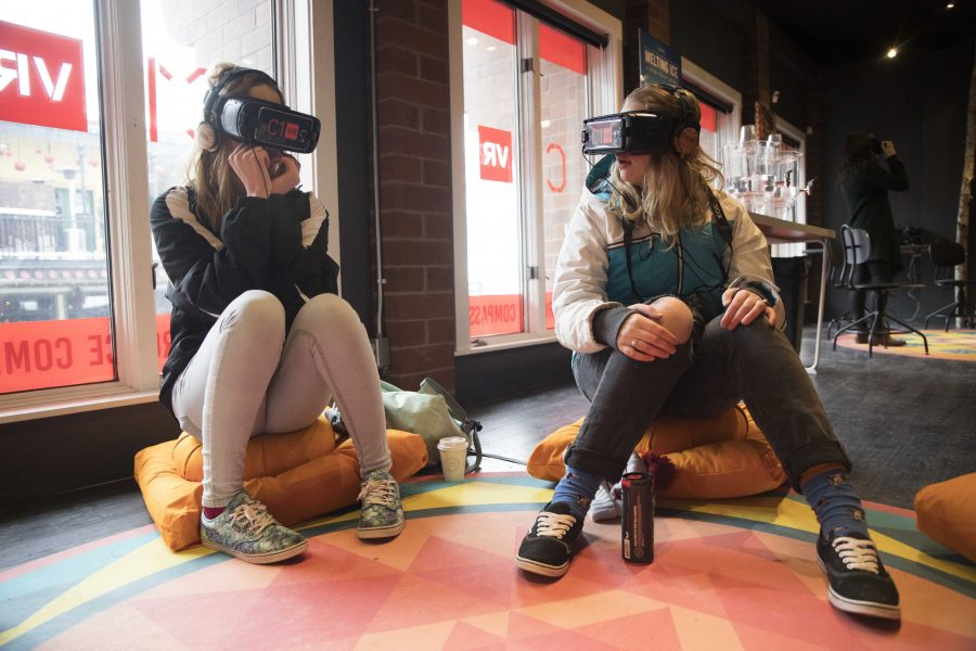 People trying out virtual reality presented by C1 VR during the Sundance Film Festival in Park City, Utah on Sunday, Janurary 22, 2017. Chris Ayers Daily Utah Chronicle.