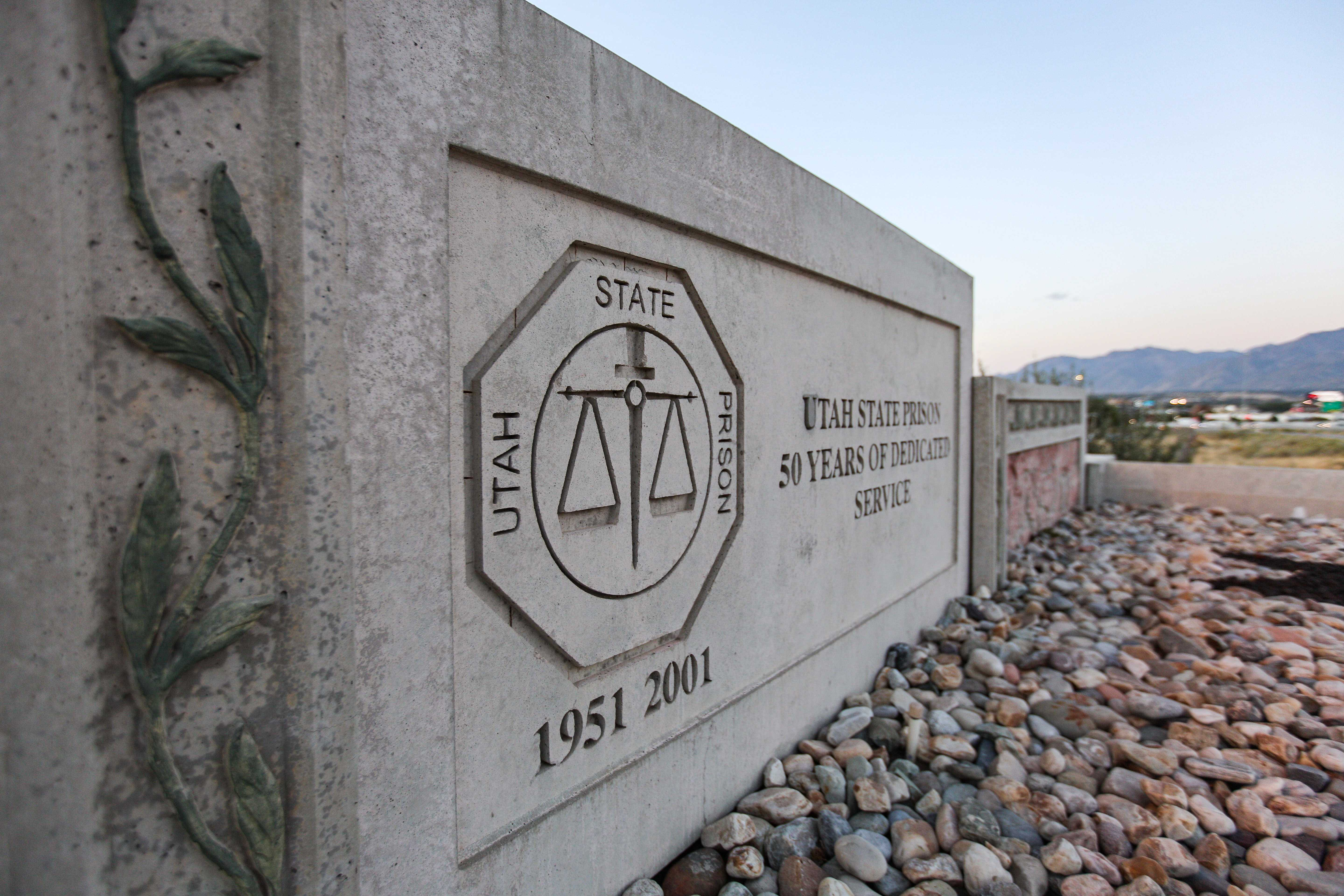 The front gate of the Utah State Prison in Draper, UT. (Photo by Justin Prather   The Utah Chronicle).