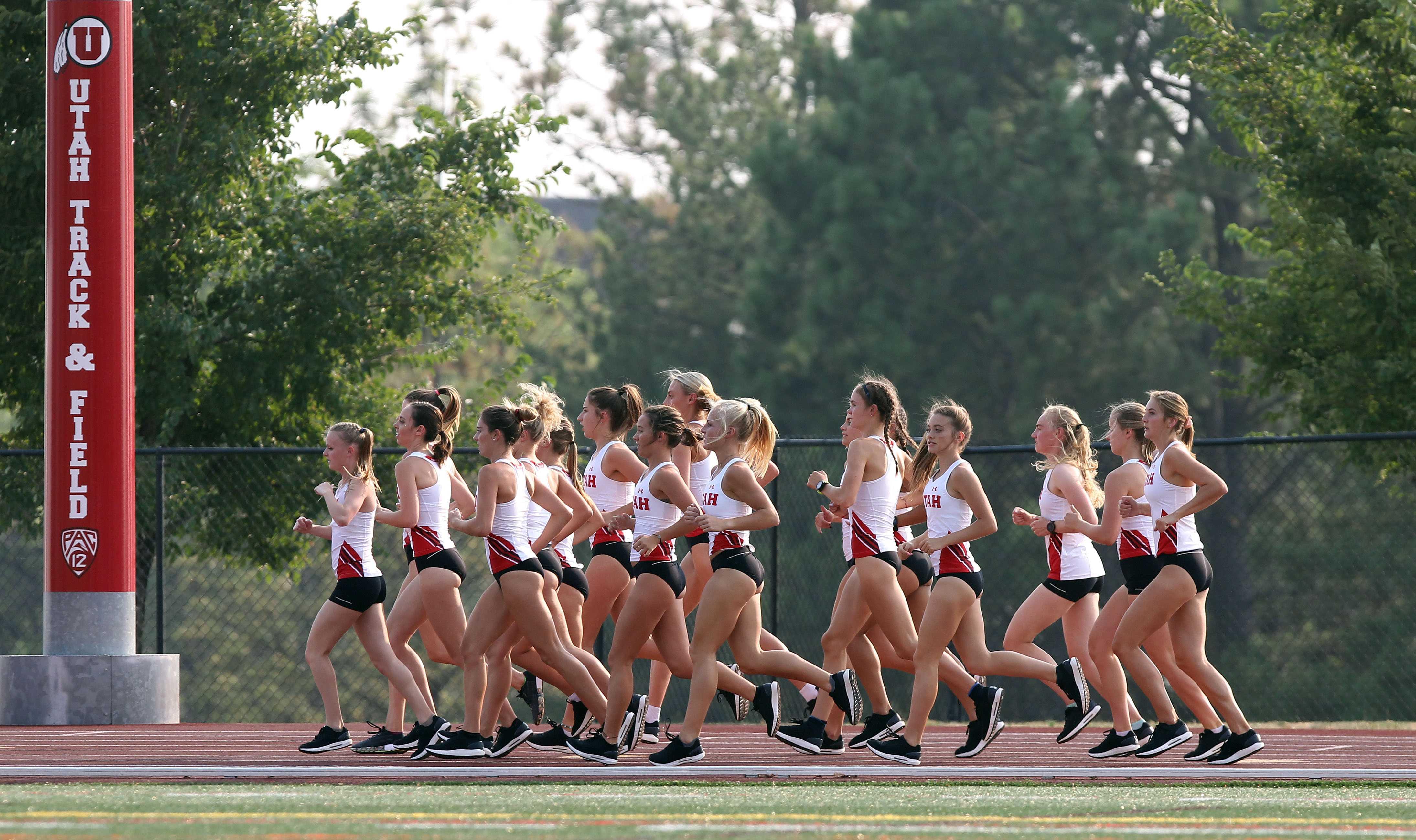 Team, Utah Cross Country / Track and Field August 21, 2018 in Salt Lake City, UT. (Photo / Steve C. Wilson / University of Utah)