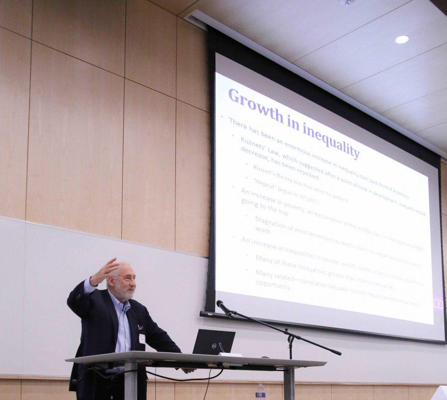 Joseph+Stiglitz+keynote+speaker+at+the+University+of+Utah+on+Thursday%2C+September+27.+%28Photo+by+Cassandra+Palor+%7C+The+Utah+Chronicle%29