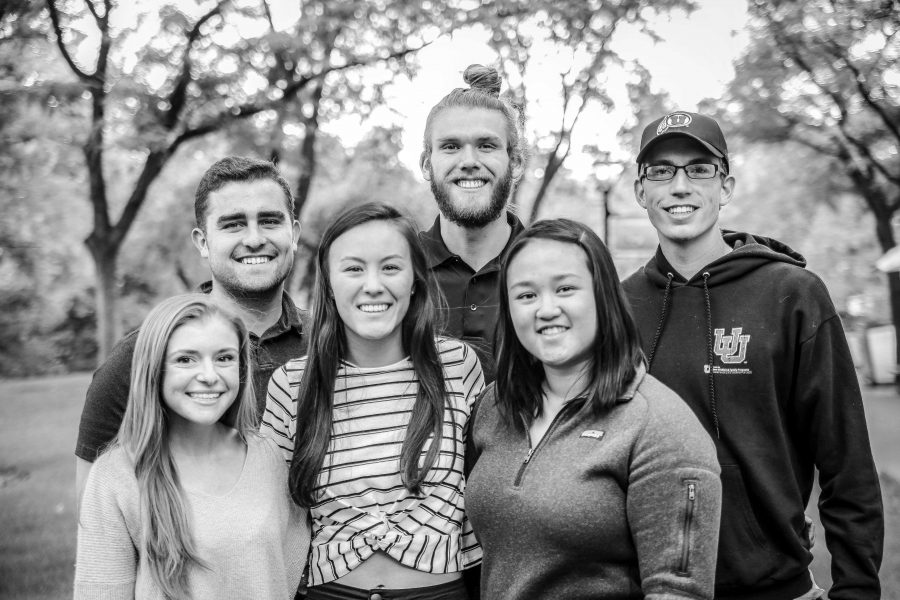 Homecoming+royalty+pictured+left+to+right%2C+Courtney+Passey%2C++Mitchel+Kenney%2C+Jackie+Larsen%2C+Michael+Montgomery%2C+Janet+Tran%2C+and+Simon+Greenhalgh+at+University+of+Utah+on+Monday%2C+Ocotober+1st.+%28Photo+by+Cassandra+Palor+%7C+The+Utah+Chronicle%29