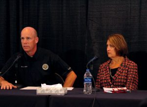 University of Utah President Ruth Watkins and University Police Chief Dale Brophy spoke at a press conference on the investigation into the death of student Lauren McCluskey on Oct. 25, 2018.