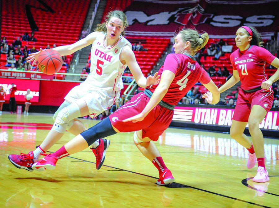 Utah+Utes+center+Megan+Huff+%285%29+charges+Washington+State+Cougars+forward+Louise+Brown+%284%29+as+the+Lady+Utes+take+on+the+Lady+Cougars+from+Washington+State+University+at+the+Huntsman+Center+in+Salt+Lake+City%2C+UT+on+Friday%2C+Feb.+16%2C+2018%0D%0D%28Photo+by+Adam+Fondren+%7C+Daily+Utah+Chronicle%29