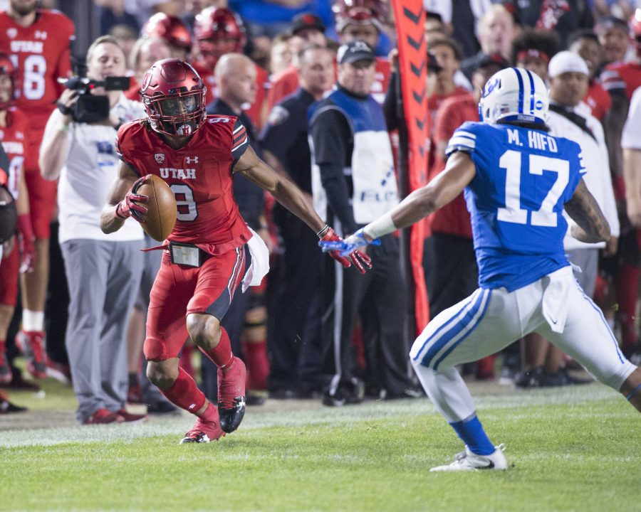 University+of+Utah+senior+wide+receiver+Darren+Carrington+II+%289%29+looks+to+evade+BYU+senior+defensive+back+Marvin+Hifo+%2817%29+in+an+NCAA+football+game+vs.+The+Brigham+Young+University+Cougars+at+LaVell+Edwards+Stadium+in+Provo%2C+Utah+on+Saturday%2C+Sept.+9%2C+2017%0A%0A%28Photo+by+Kiffer+Creveling+%7C+The+Daily+Utah+Chronicle%29