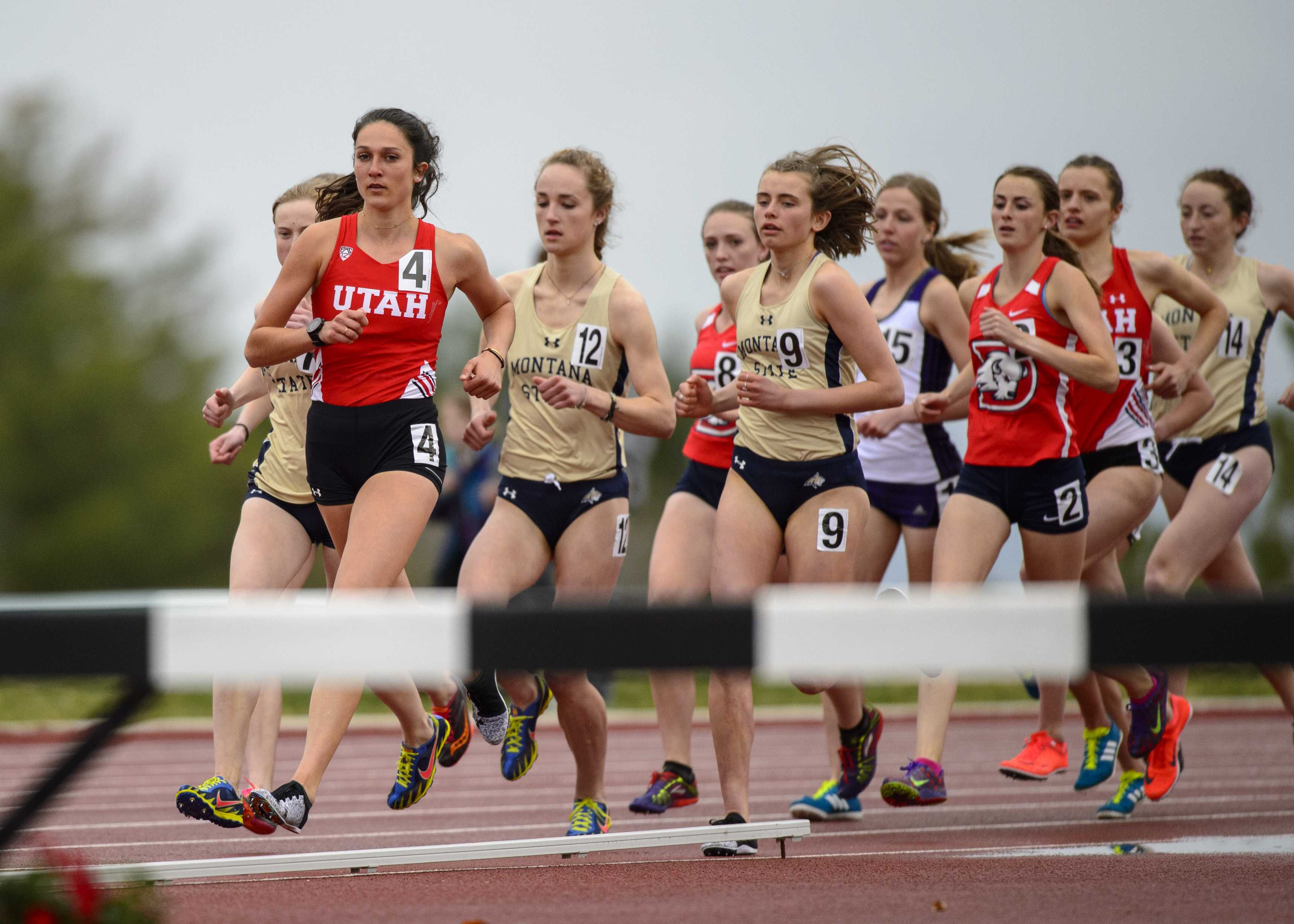 The University of Utah and Weber State host the Spring Classic at the McCarthy track & field in Salt Lake City, Utah on Friday, April 6, 2018.  (Photo by Kiffer Creveling | The Daily Utah Chronicle)