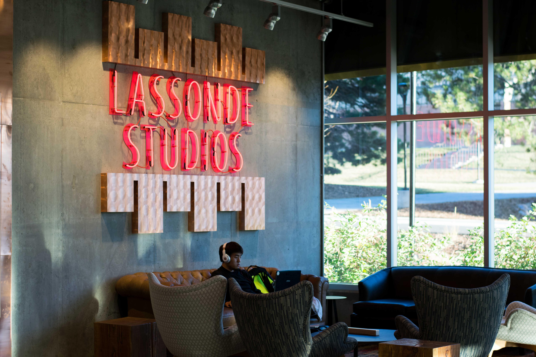 First floor of Lassonde Studios in Salt Lake City, UT on Tuesday, Nov. 28, 2017.  (Photo by Curtis Lin/ Daily Utah Chronicle)