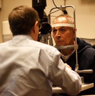 Dr. Crandall examining Noel Landenaz at the clinic. Courtesy of Tyler ODonnell.
