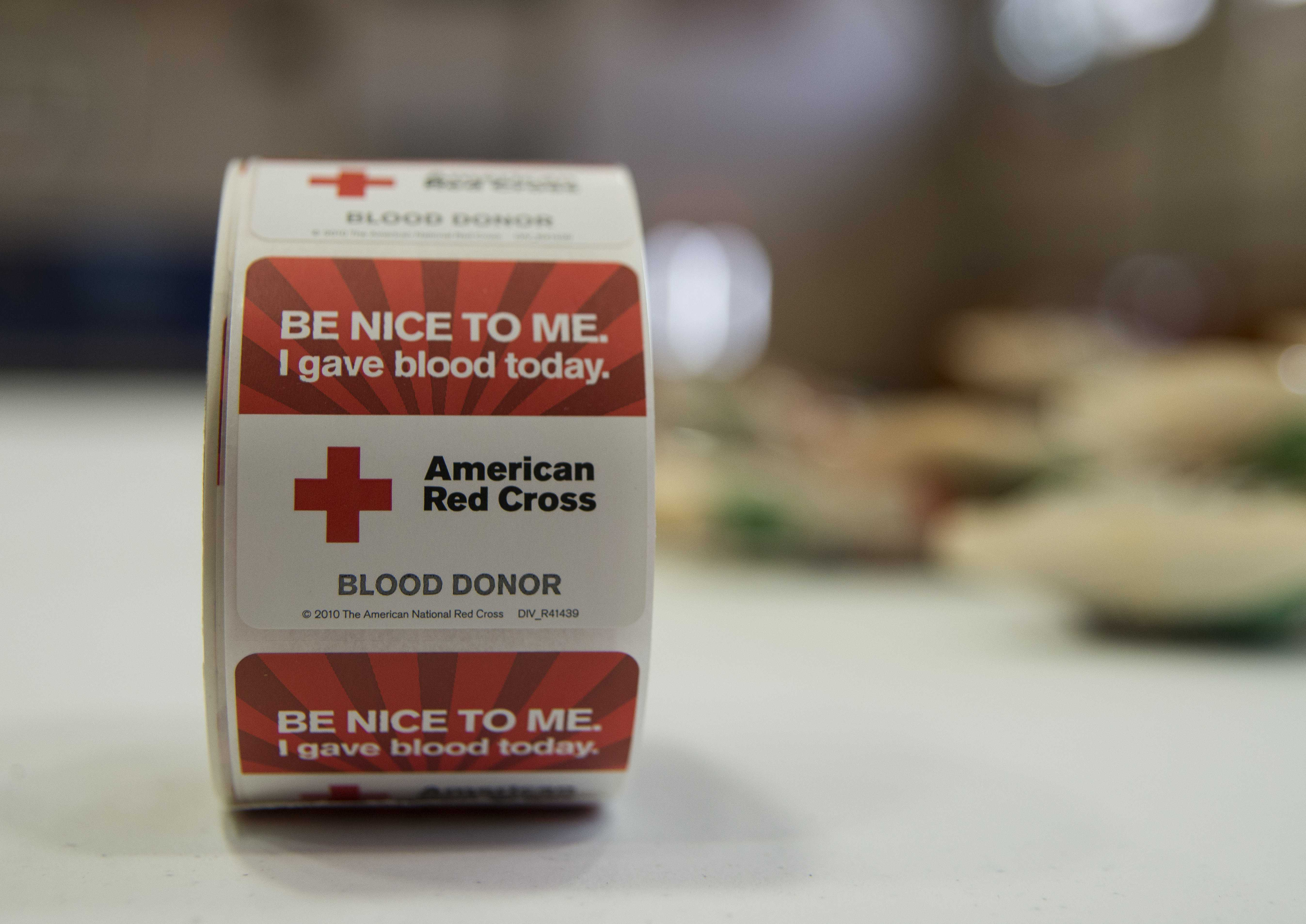The American Red Cross blood drive was held Feb. 5, 2014 at Joint Base Charleston - Air Base, S.C. The blood donated will be sent to a Red Cross blood component laboratory where it is processed into several components; red blood cells, plasma, platelets and/or cryoprecipitate. A single blood donation may help up to three different people. (U.S. Air Force photo/Senior Airman Ashlee Galloway)