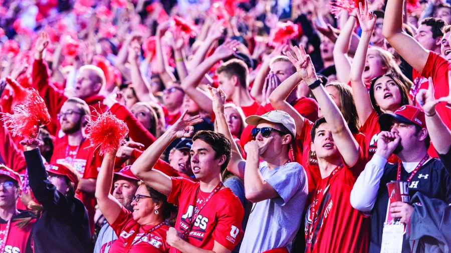 The+University+of+Utah+student+section+cheers+during+an+NCAA+Football+game+vs.+The+University+of+Southern+California+at+Rice+Eccles+Stadium+in+Salt+Lake+City%2C+Utah+on+Saturday%2C+Oct.+20%2C+2018.+%28Photo+by+Kiffer+Creveling+%7C+The+Daily+Utah+Chronicle%29