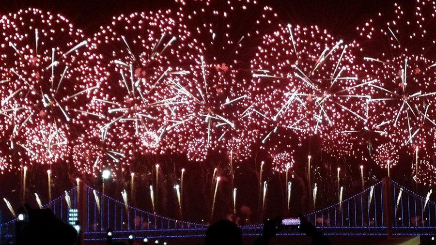 Han Jason M. C. https://commons.wikimedia.org/wiki/File:2018_New_Year%27s_Eve_Celebration_in_Dalian_(Self-participation;_Firework-1st).jpg