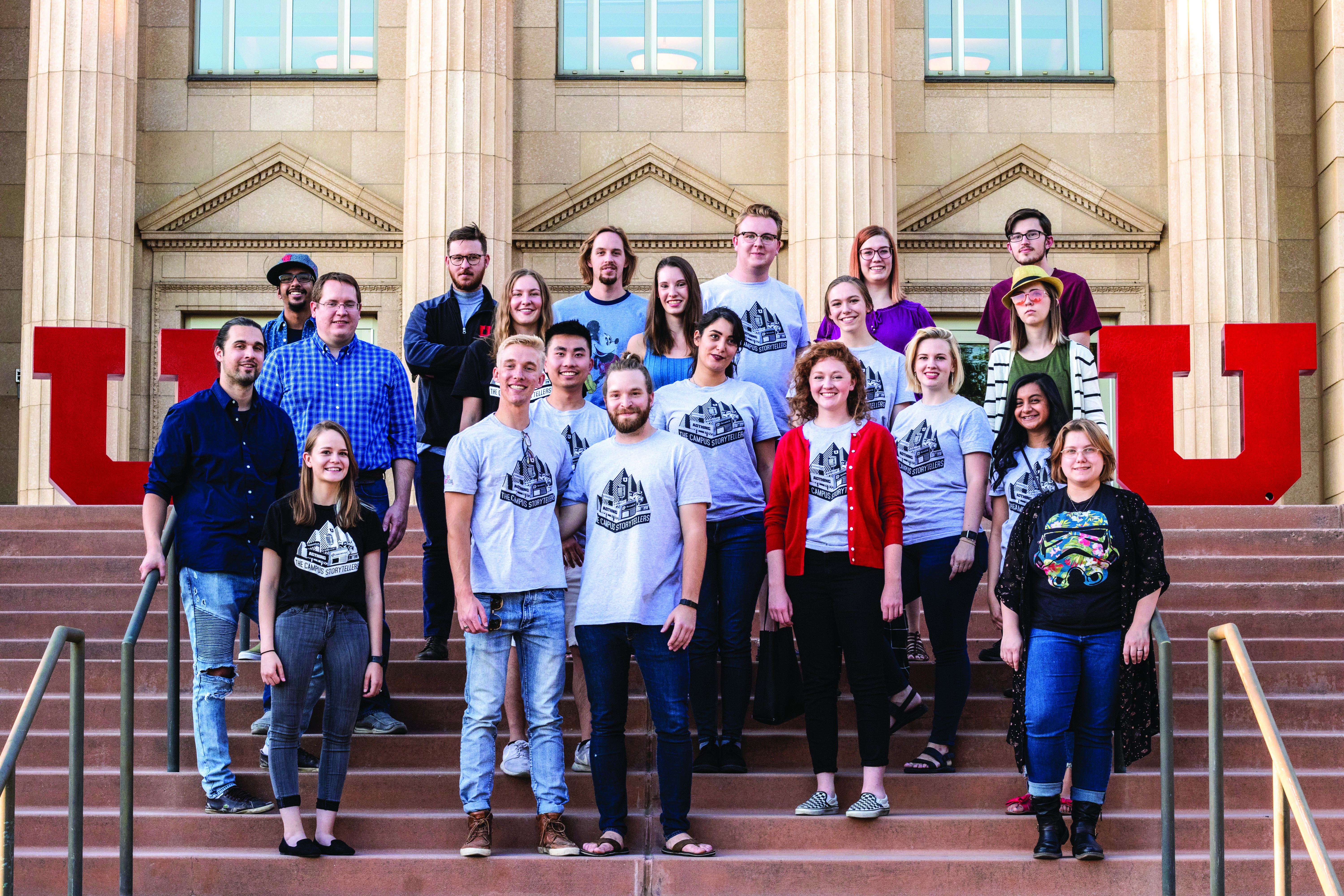 Some of The Daily Utah Chronicle staff (Photo by: Justin Prather | The Daily Utah Chronicle).
