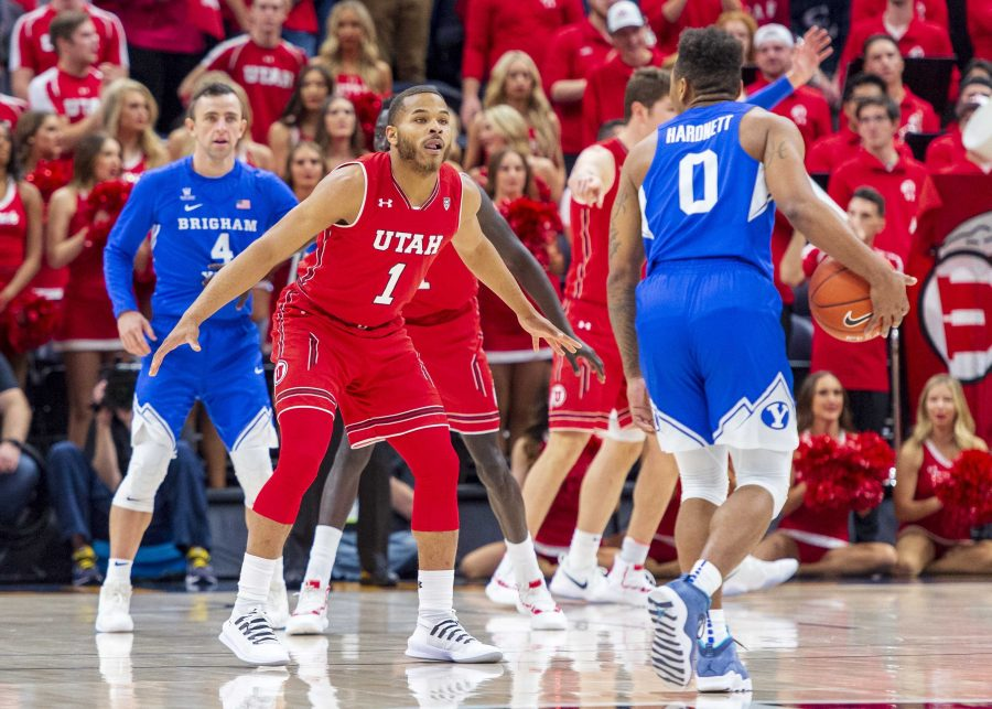 University+of+Utah+junior+guard+Charles+Jones+%281%29+guards+Brigham+Young+University+junior+guard+Jahshire+Hardnett+%280%29+during+an+NCAA+college+basketball+game+at+the+Vivint+Smart+Home+Arena+in+Salt+Lake+City%2C+Utah+on+Saturday%2C+Dec.+8%2C+2018.+%28Photo+by+Kiffer+Creveling+%7C+The+Daily+Utah+Chronicle%29