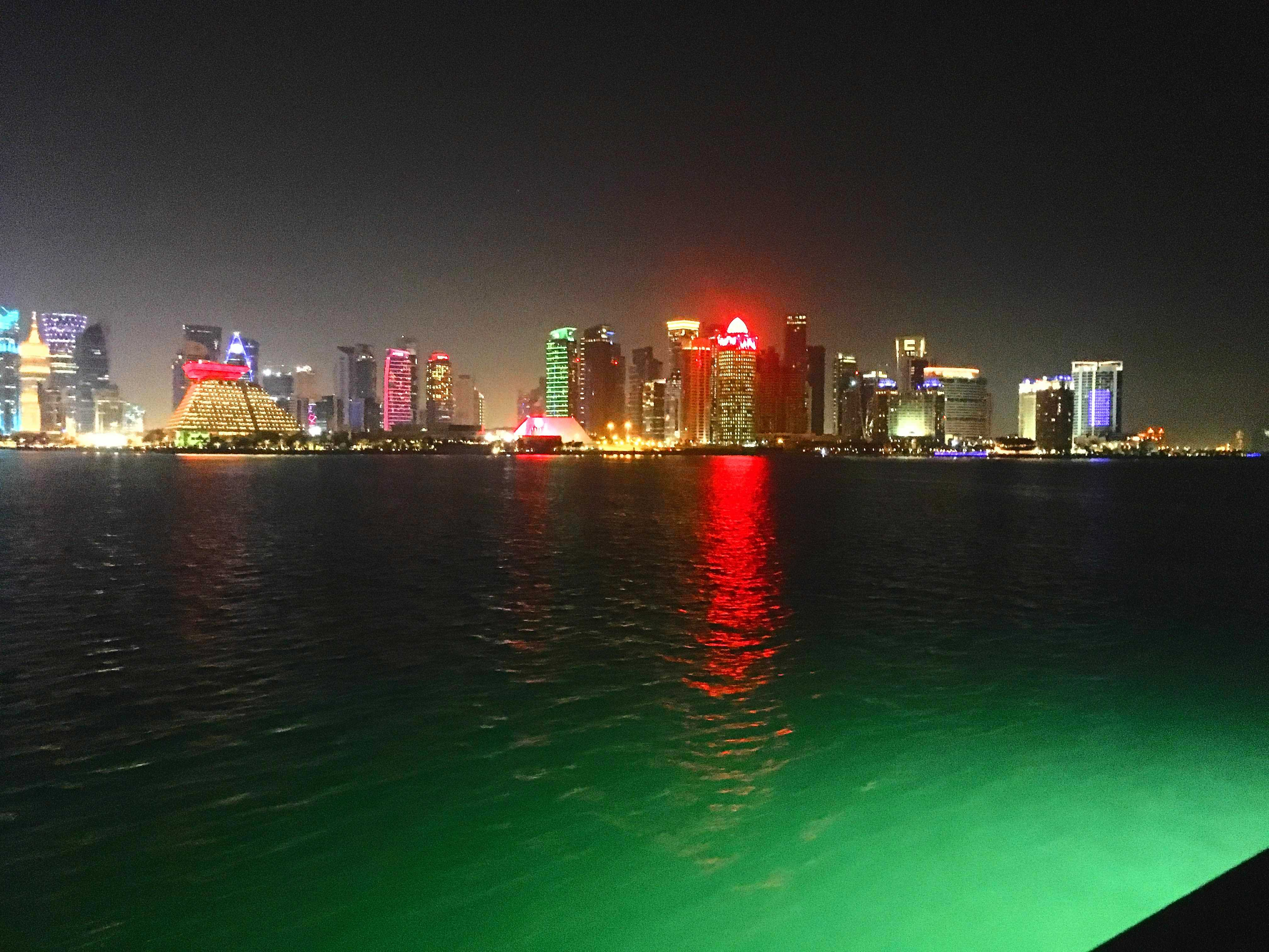 The skyline of Doha, Qatar from the Museum of Islamic Art. Courtesy of Sanders-Aboulila.