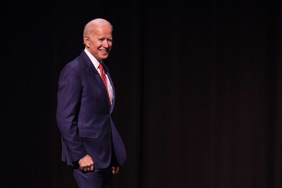 Former Vice President of the United States Joe Biden speaks at Kingsbury Hall on the University of Utah Campus on Dec. 13, 2018.  (Photo by: Justin Prather | The Daily Utah Chronicle).