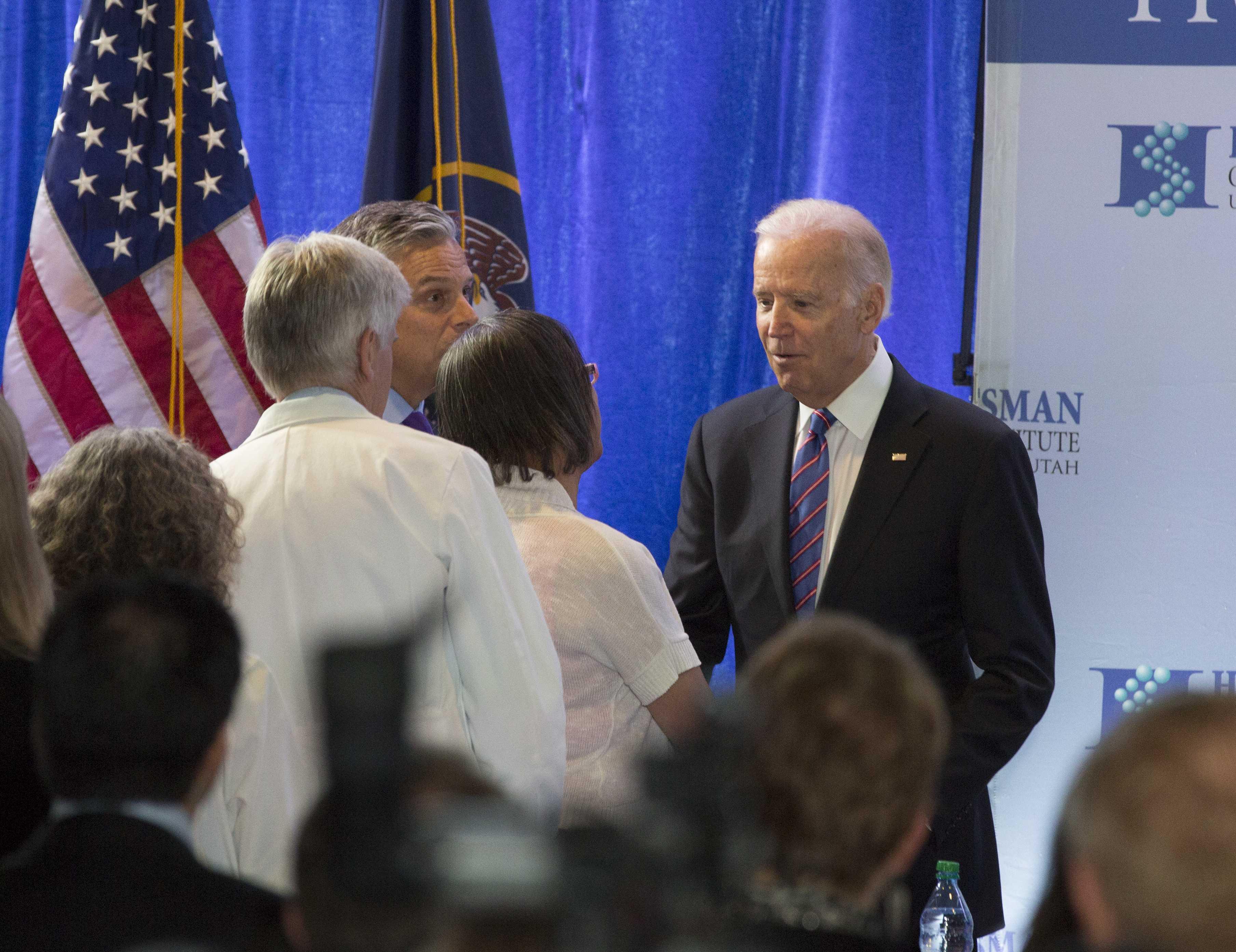 Vice President Joe Biden at the University of Utah in 2018. Chronicle archive.