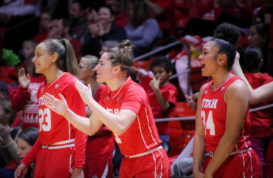 The+University+of+Utah+Lady+Utes+cheer+on+the+sidlines+at+the+Brigham+Young+University+game+at+the+Huntsman+Center+in+Salt+Lake+City%2C+UT+on+Saturaday%2C+Dec.+8%2C+2018+%28Photo+by+Cassandra+Palor+%7C+Daily+Utah+Chronicle%29
