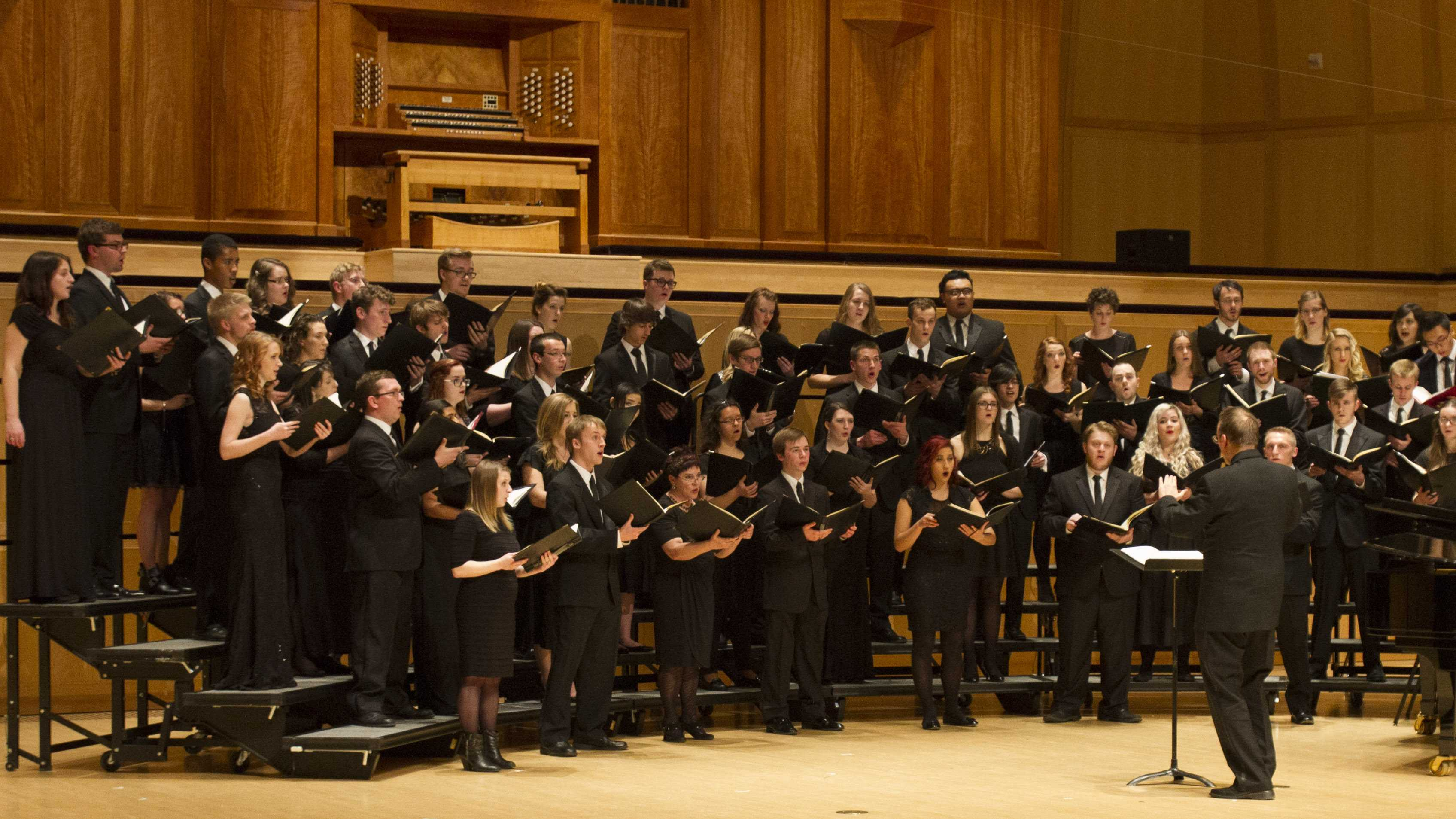 University combined choirs winter concert, Friday Feb. 19, 2016. (Mike Sheehan | Daily Utah Chronicle)