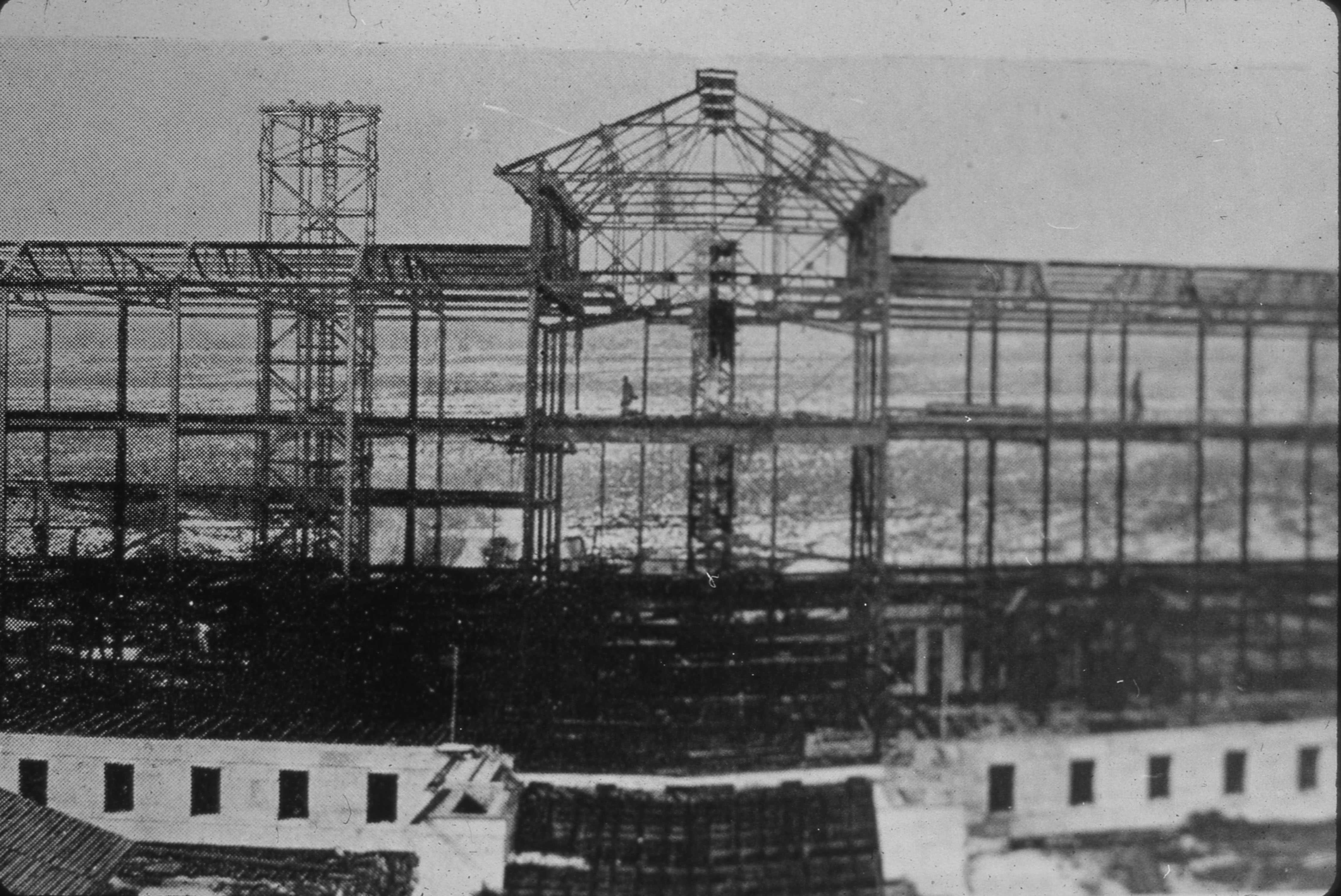 Construction of the John R. Park Building (Courtesy of the University of Utah Archives)