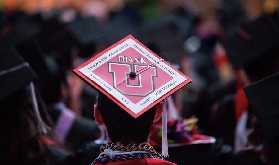 U student at graduation. (Courtesy of Courtney McBeth)
