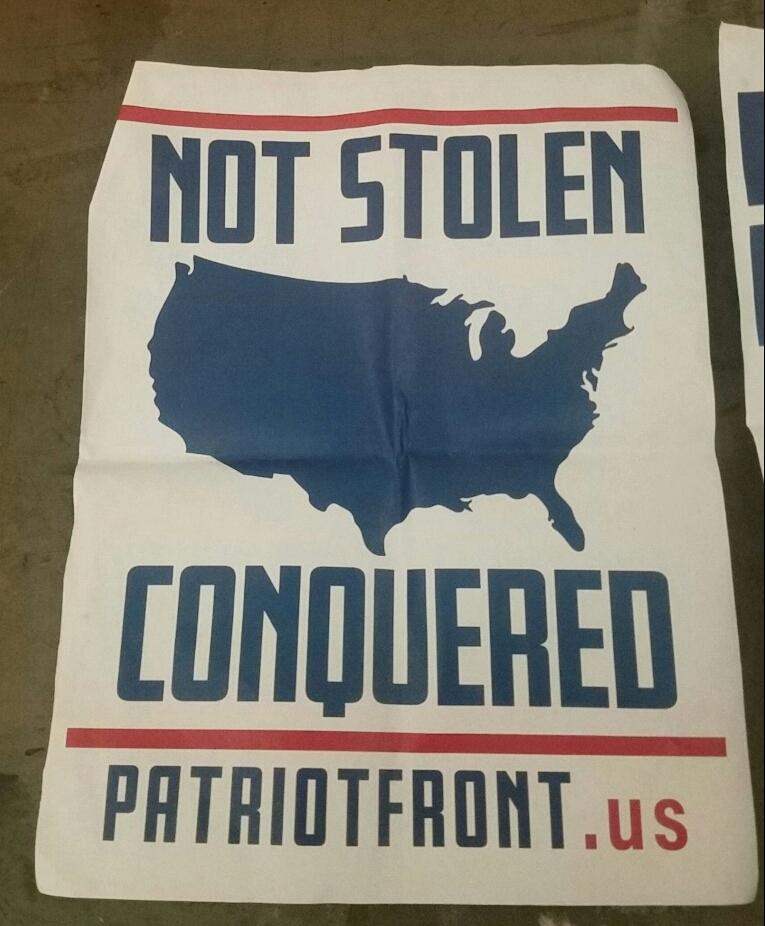 Racist poster found by the entrance of the Arts Building on the U campus by Mohan Sudabattula on Wednesday Feb 13. (Courtesy of Mohan Sudabattula)