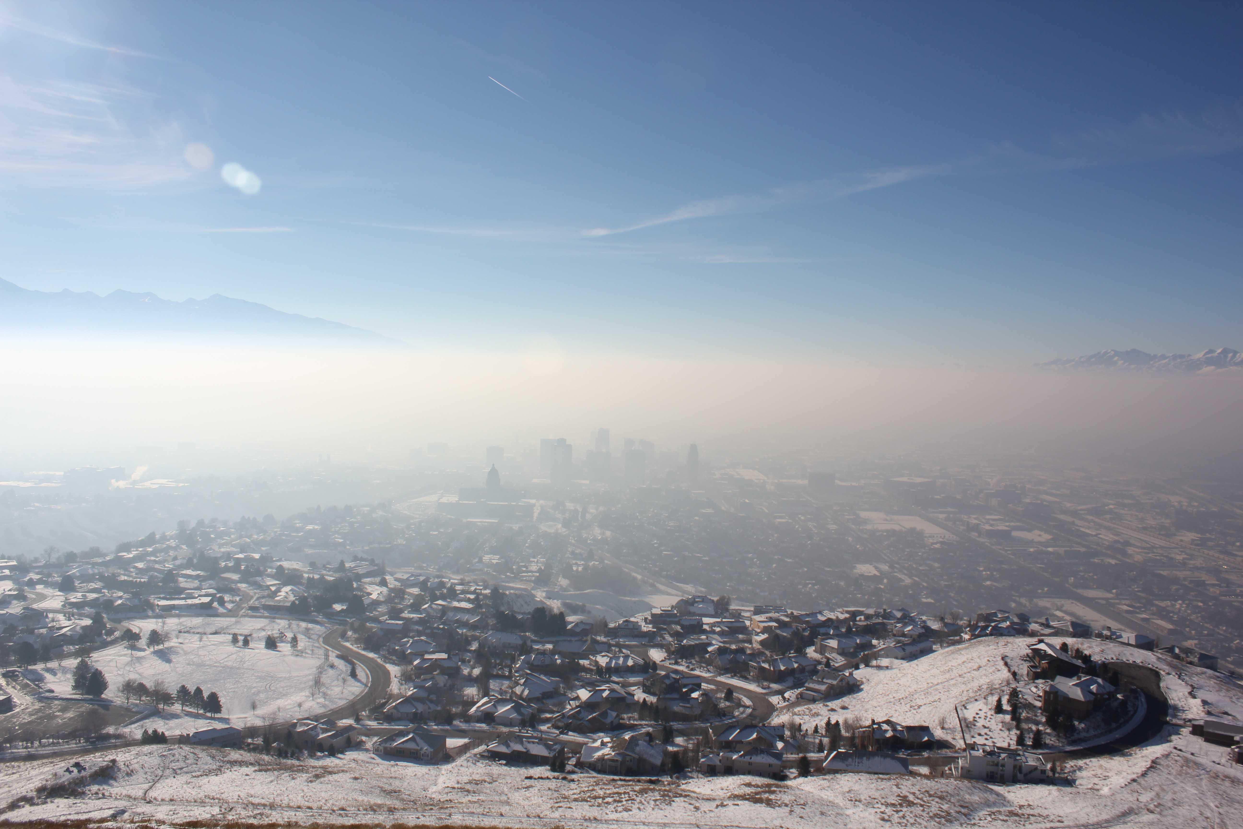 Smog over the Salt Lake Valley. Courtesy Flickr.