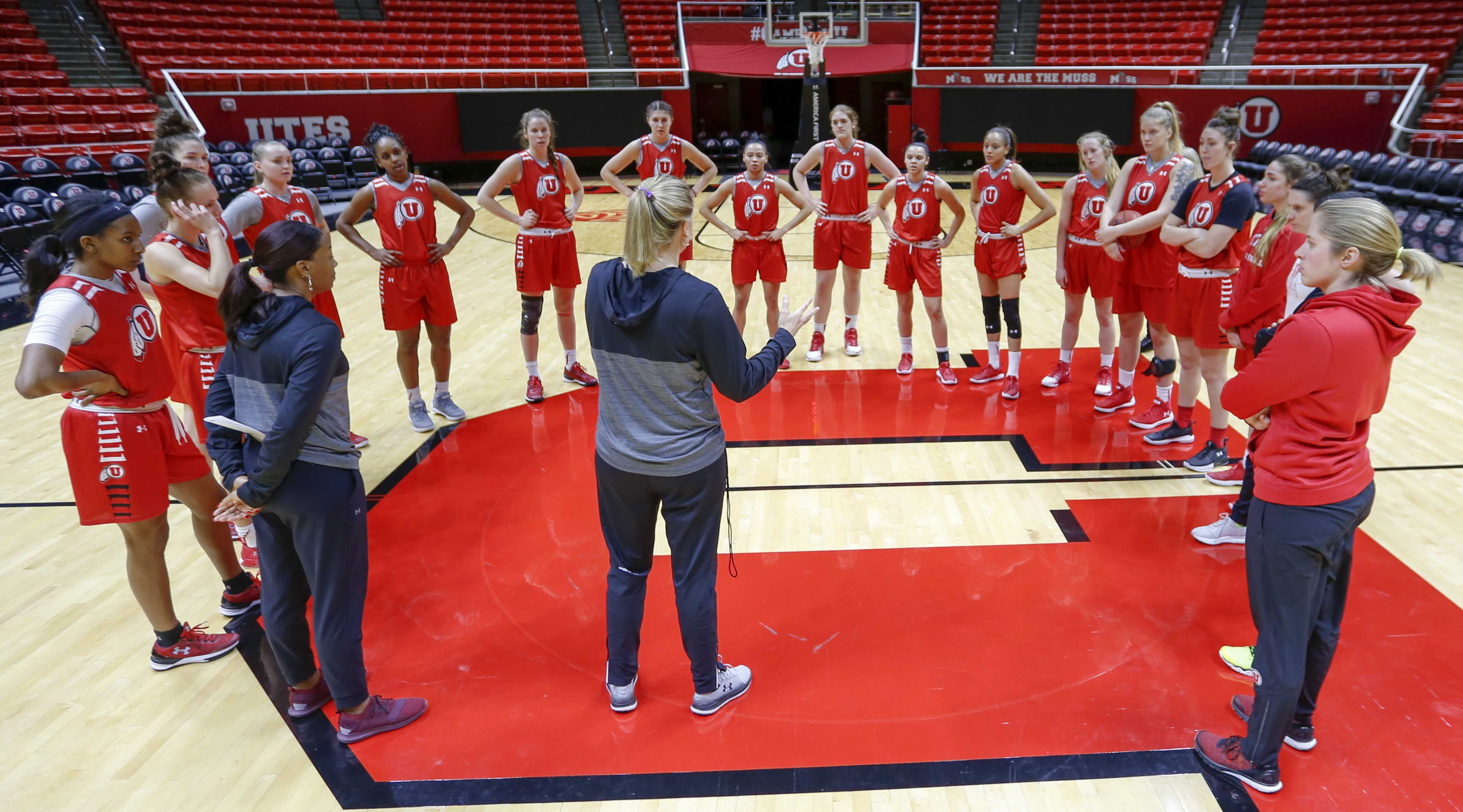 University of Utah Womens Basketball practice at the Jon M. Huntsman Center in Salt Lake City, UT on Wednesday, Jan. 10, 2018  (Photo by Adam Fondren | Daily Utah Chronicle)