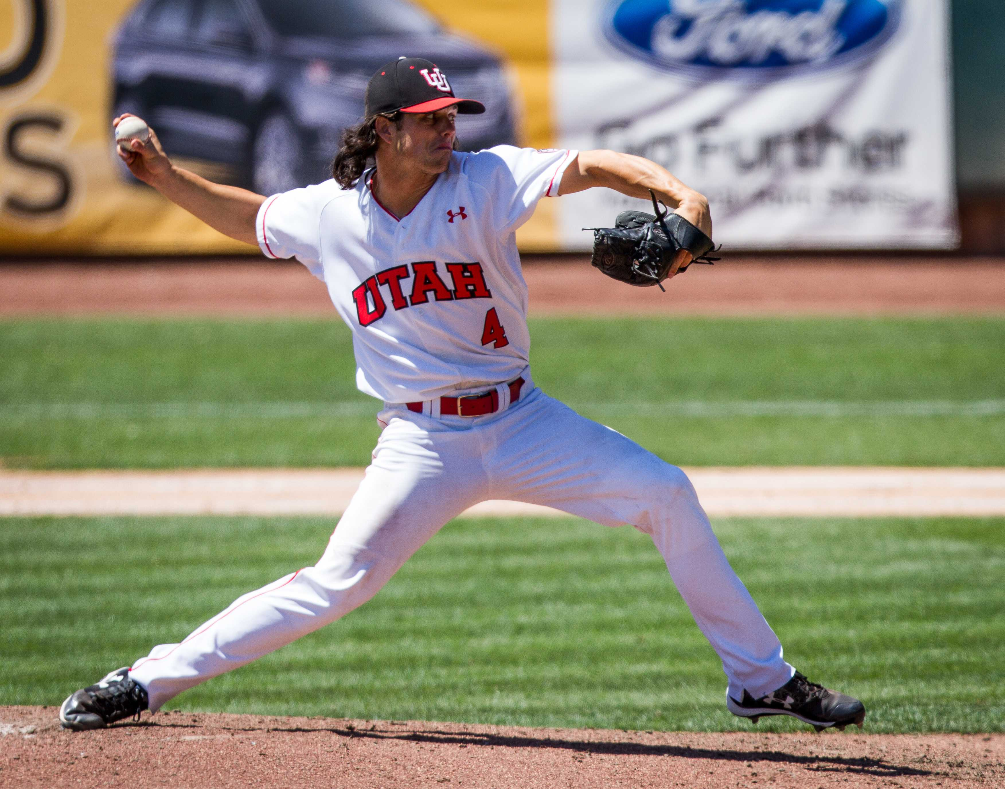 University of Utah Baseball's sophomore right-handed starting pitcher Riley Ottesen (4) in an PAC 12 Game vs. The Arizona State Sun Devils at The Salt Lake Bee's Stadium, Salt Lake City, UT on Saturday, May 27, 2017  (Photo by Adam Fondren | Daily Utah Chronicle)