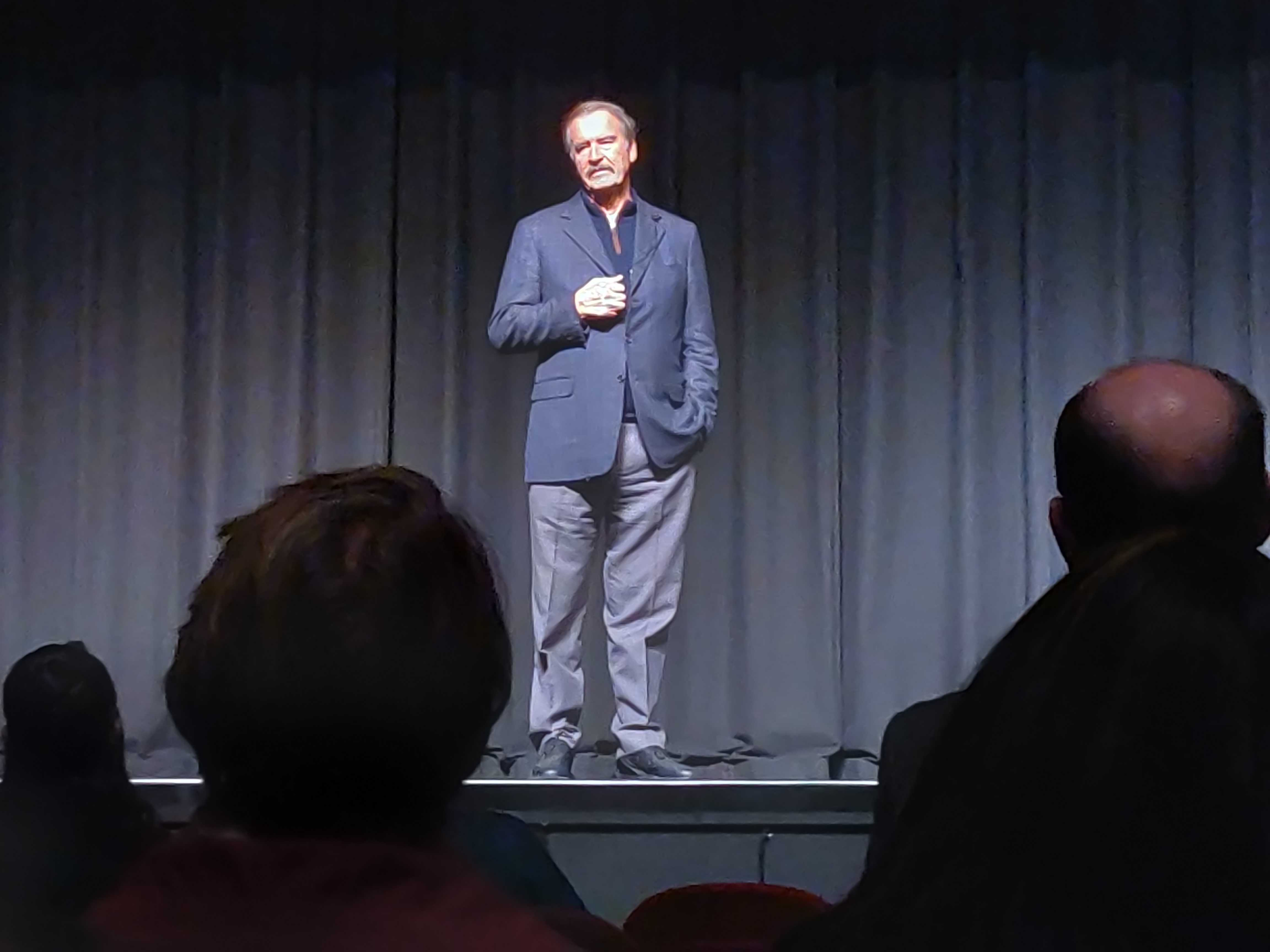 Vicente Fox speaks at Kingsbury Hall on Feb. 12, 2019 (Courtesy of Nick Cockrell )