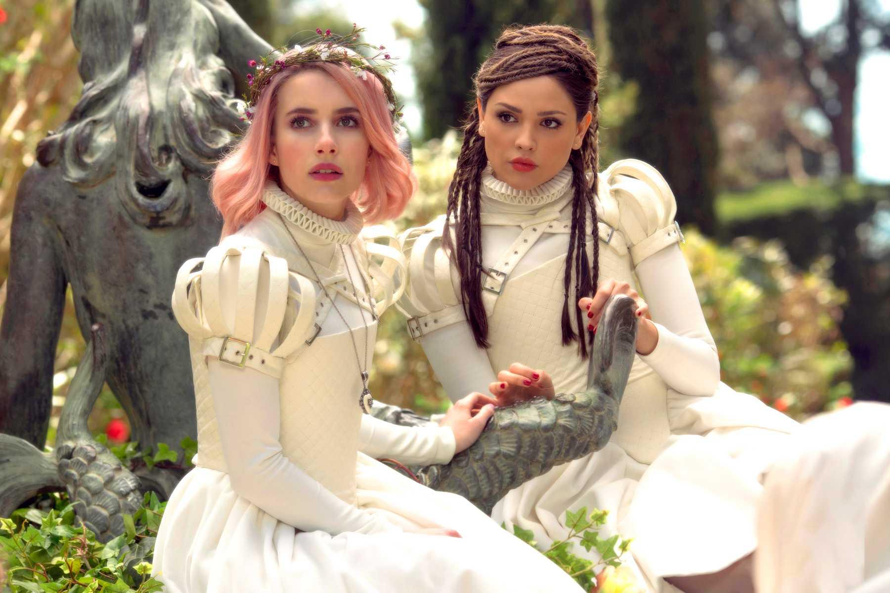 Emma Roberts and Eiza Gonzalez in