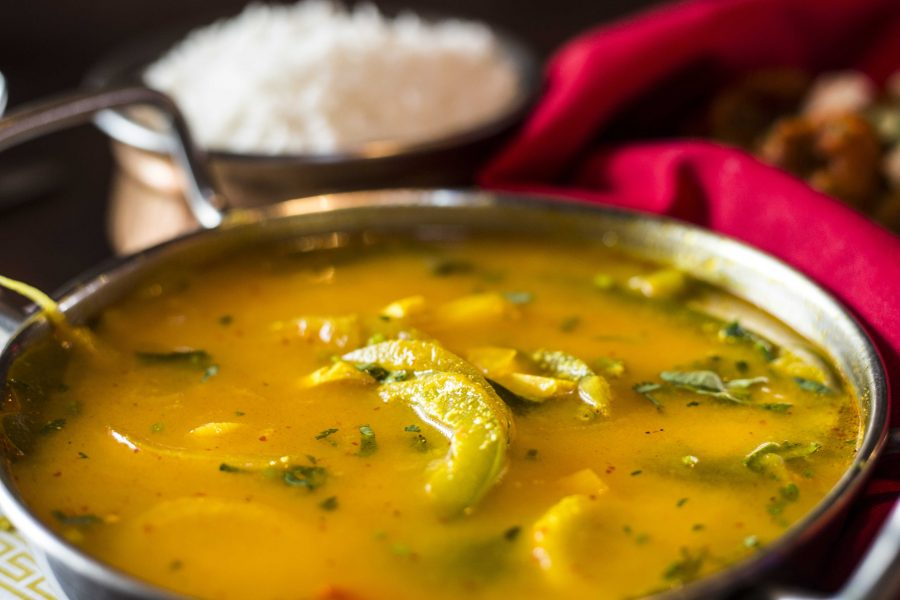 Ema Datshi, a Bhutanese curry from Bhutan House.  (Photo by Justin Prather | Daily Utah Chronicle)