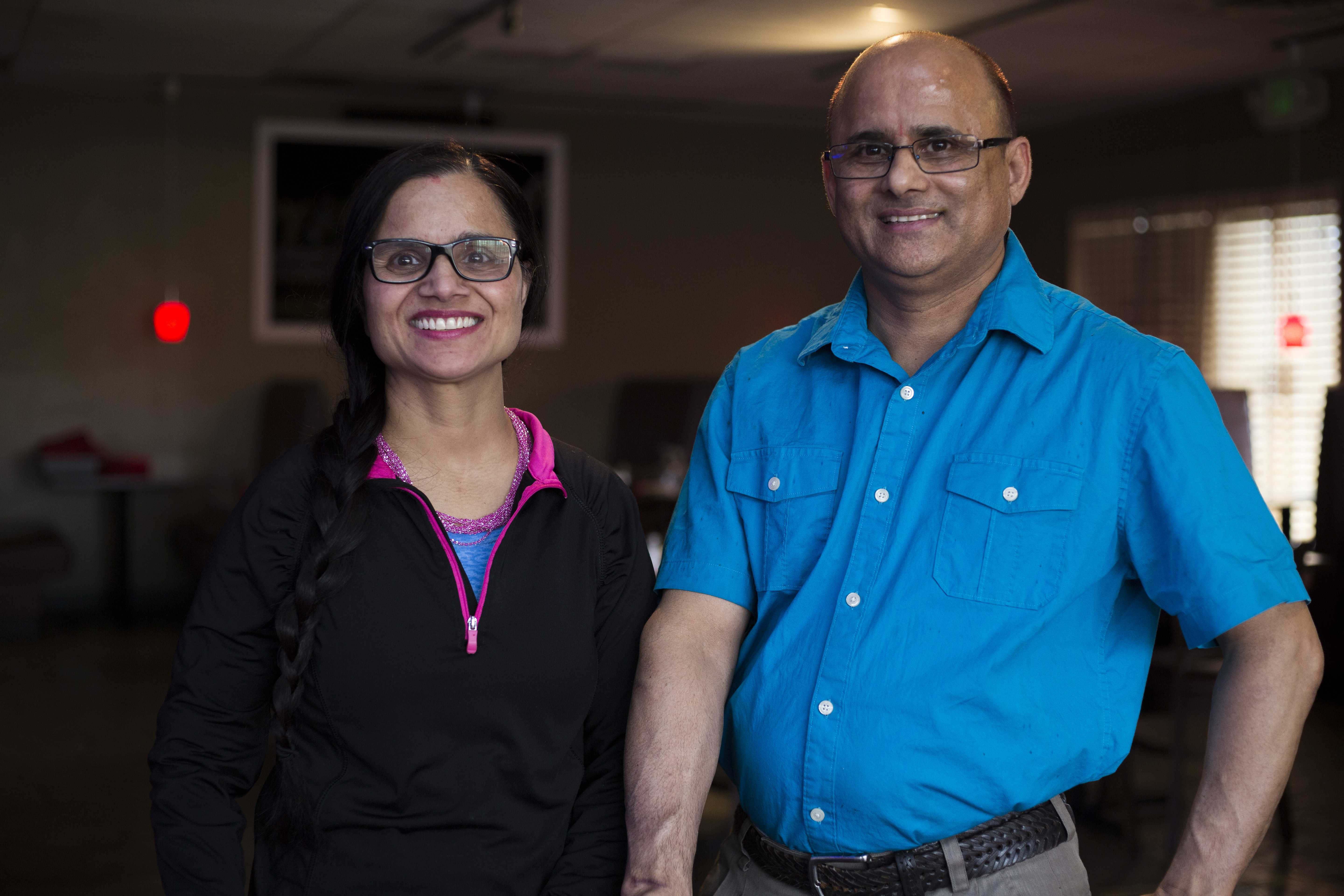 Kamal and Geeta Sharma owners of Bhutan House Restaurant and graduates of Spice Kitchen.  (Photo by Justin Prather | Daily Utah Chronicle)
